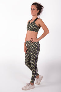 Leggings Bark and Lime High Waist