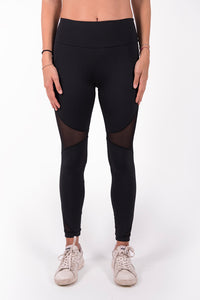 Leggings lycra nero coprente