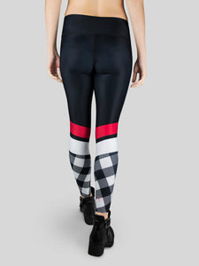 Leggings Check High Waist