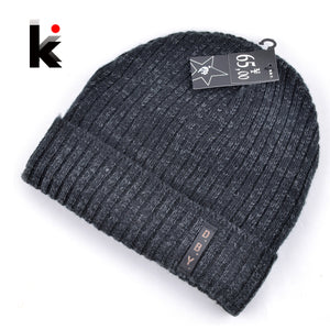 Mens designer hats bonnet winter beanie knitted wool hat