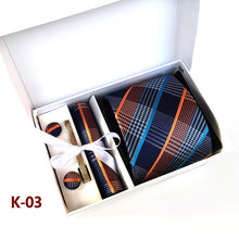 Silver Paisley Man Tie, Handkerchief, Pin and Cufflinks Gift Box