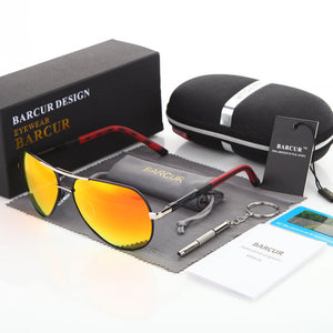 BARCUR 2017 Aluminum Magnesium Men's Sunglasses Polarized