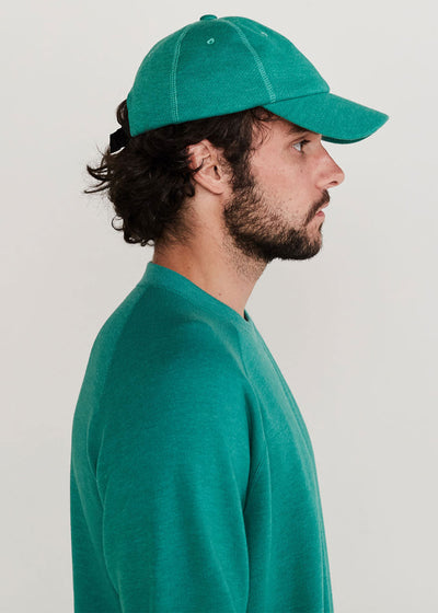 6d4b0f367 French Terry Cap. Green Melange.