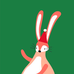 holiday cartoon bunny
