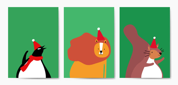 holiday cartoon animals