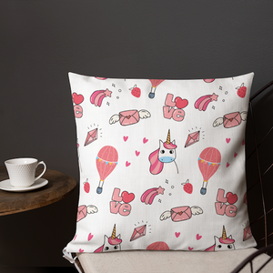 Cute Unicorn Valentine premium pillow