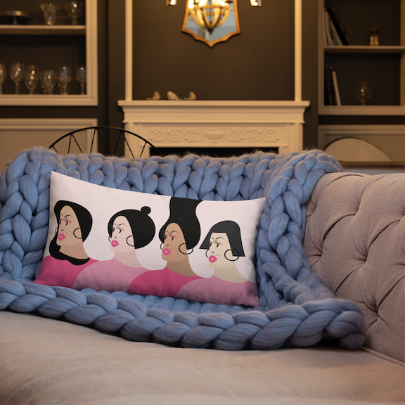 Fierce Women premium pillow