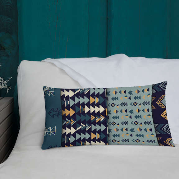 Modern Geometric Shapes premium pillow