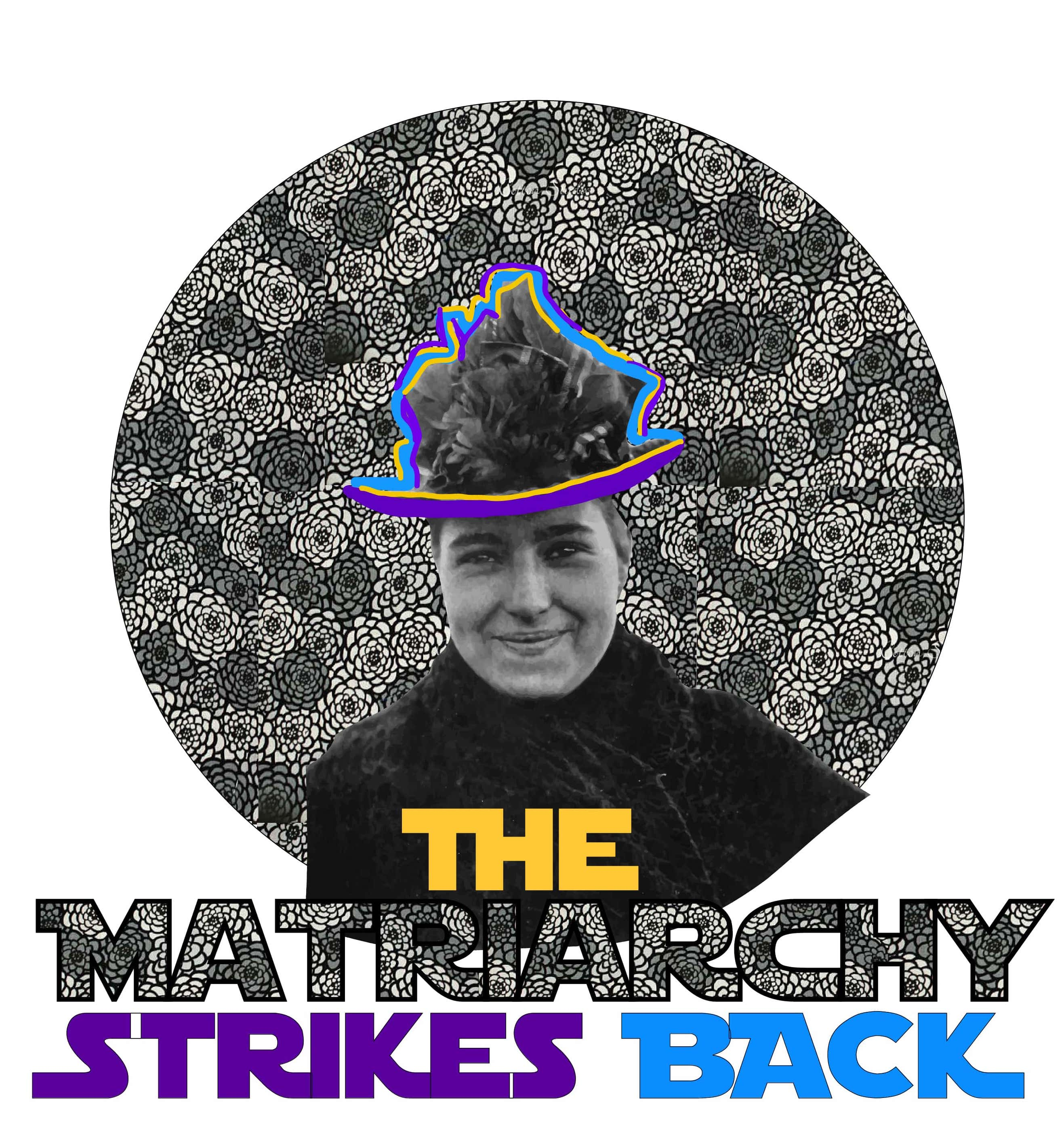 This is the design for Montevideo's The Matriarchy Strikes Back Feminist t shirt