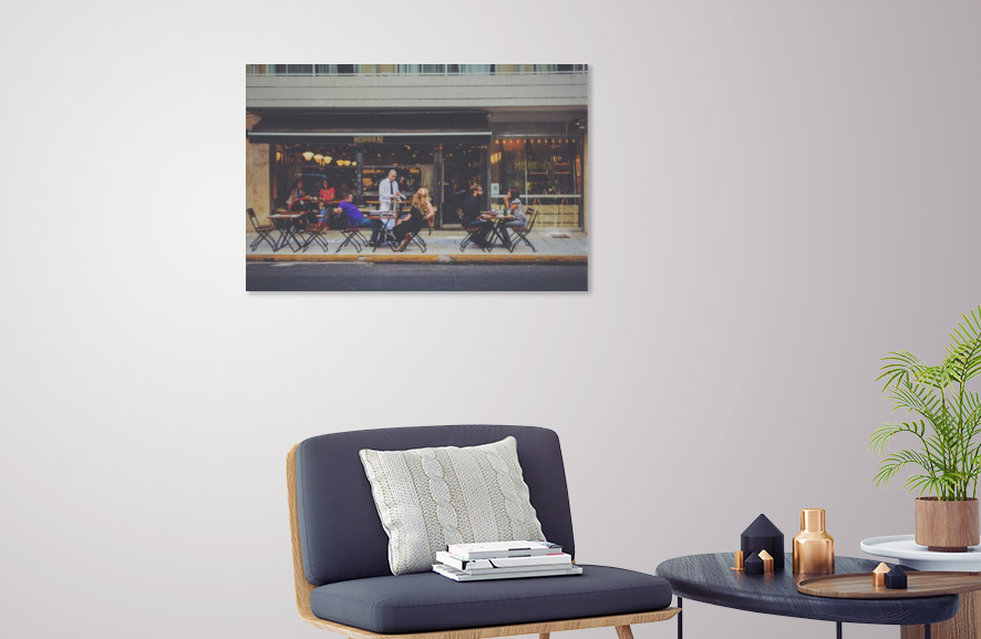 Cafe Patio canvas print