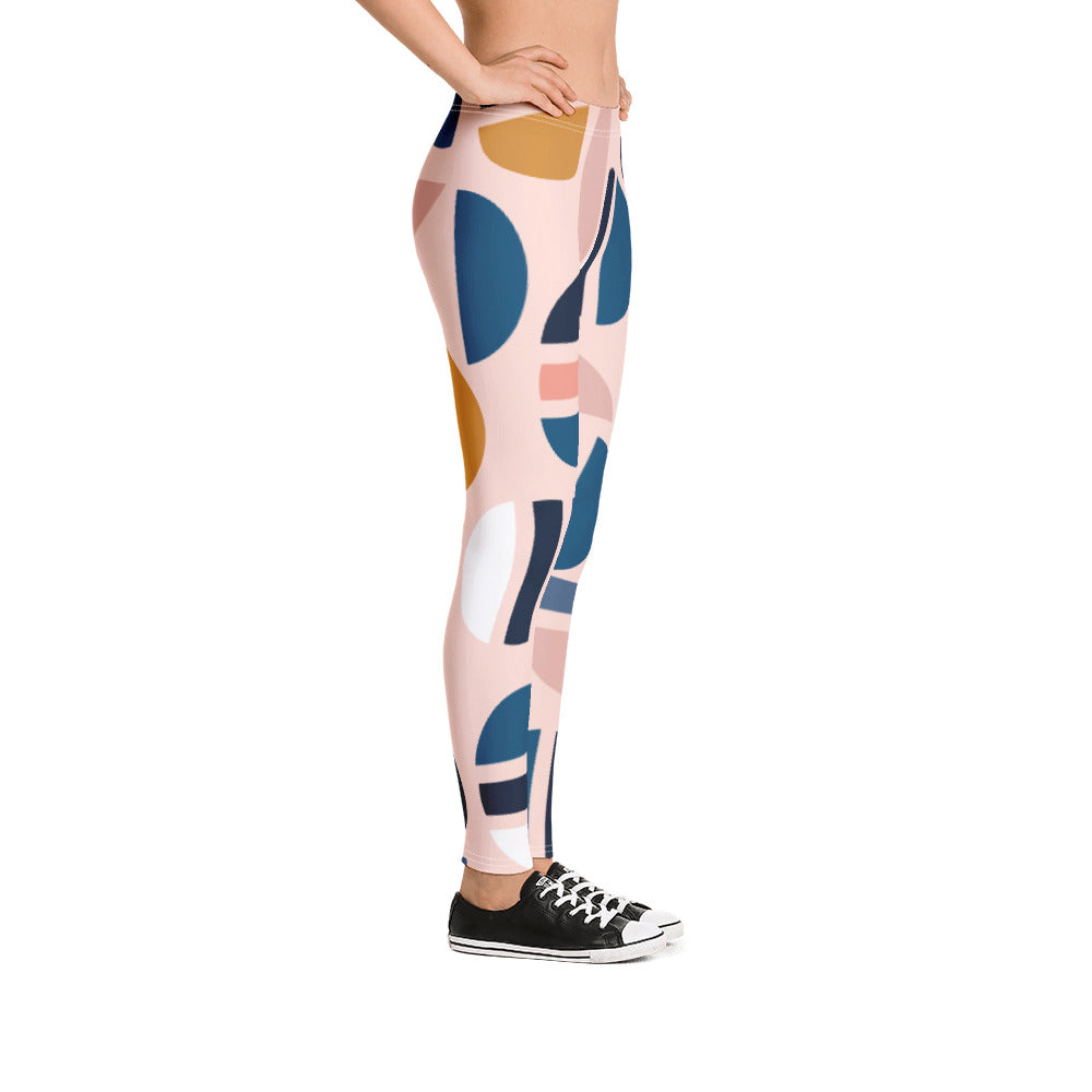 Modern Geographic Pattern leggings