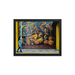 Mural in Buenos Aires framed print