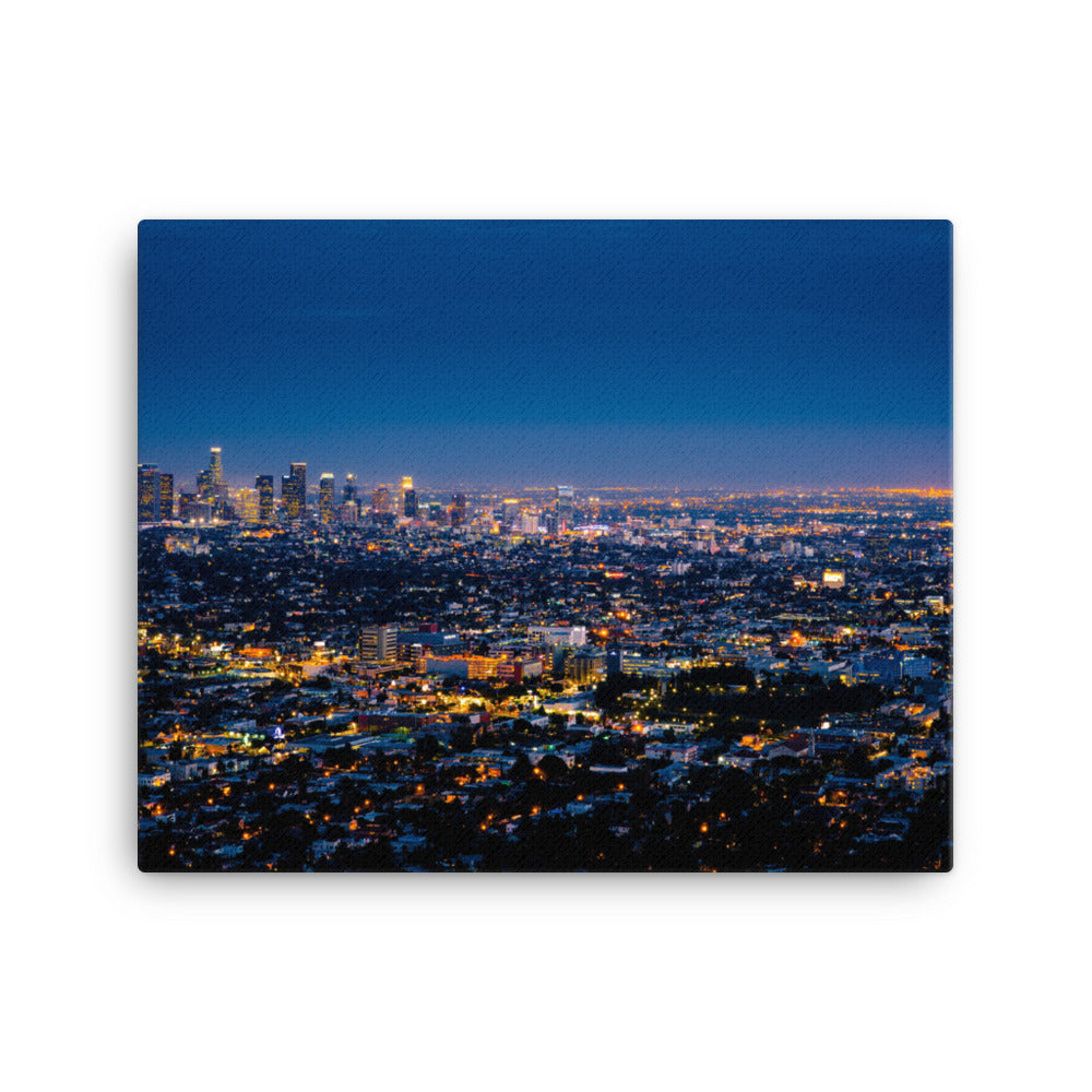 Los Angeles By Night canvas print