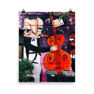 Upright Bass Humming In Our Fingertips poster