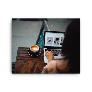 Work & Coffee canvas print