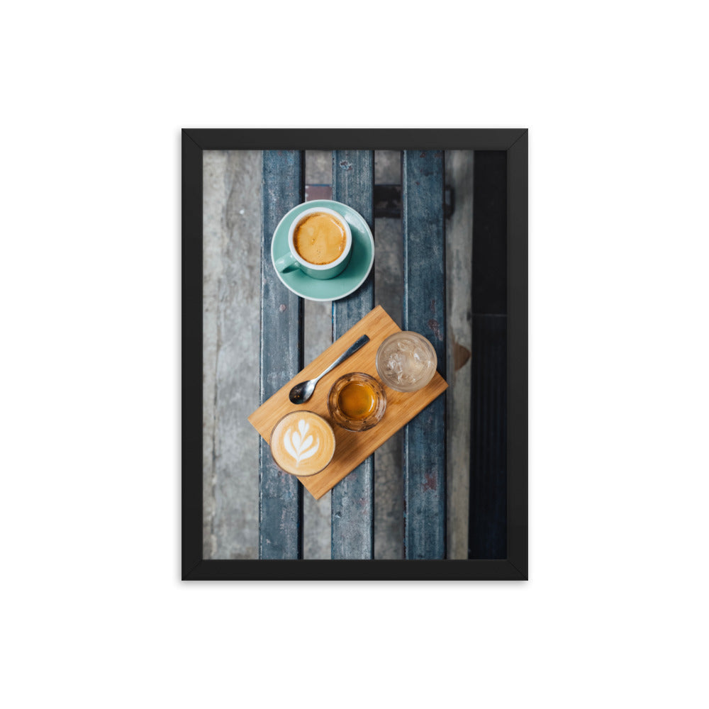 Coffee Cups framed print