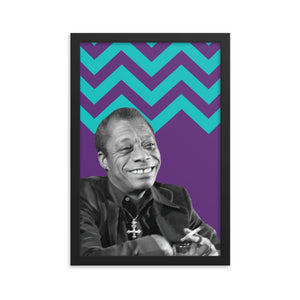 James Baldwin framed print