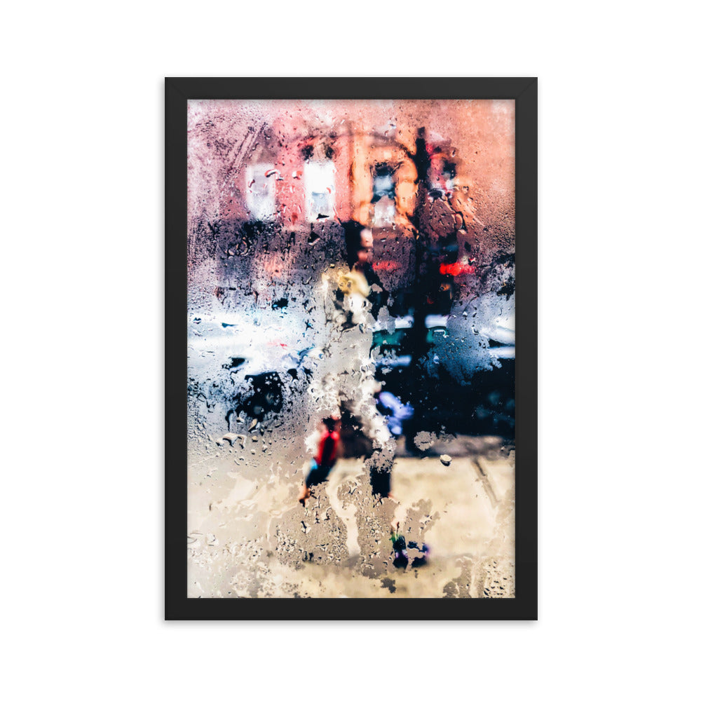 Wet Glass framed print