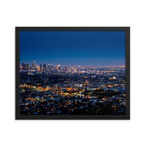 Los Angeles By Night framed print