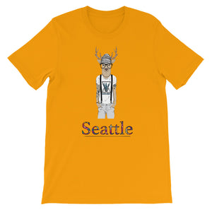 Many Cities, One World Seattle Men's T-Shirt