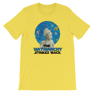 This is a photo of Montevideo's The Matriarchy Strikes Back Feminist t shirt