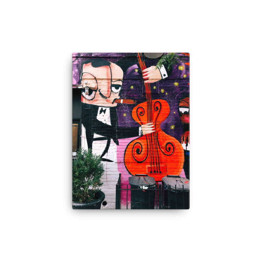 Upright Bass Humming In Our Fingertips canvas print