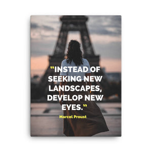 Develop New Eyes canvas print
