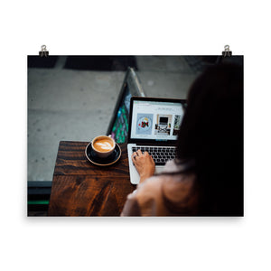 Work & Coffee poster