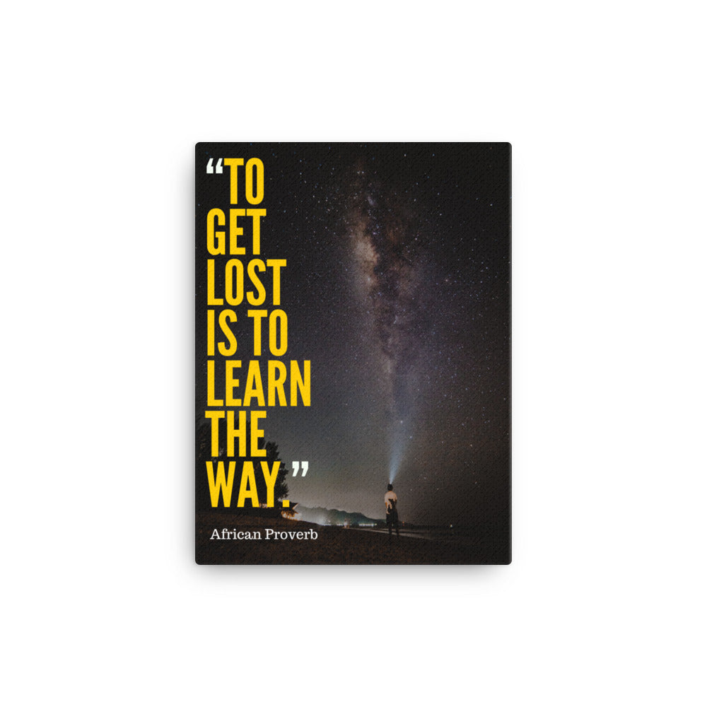 Learn the Way canvas print