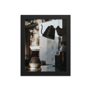 Coffee & Steam framed print