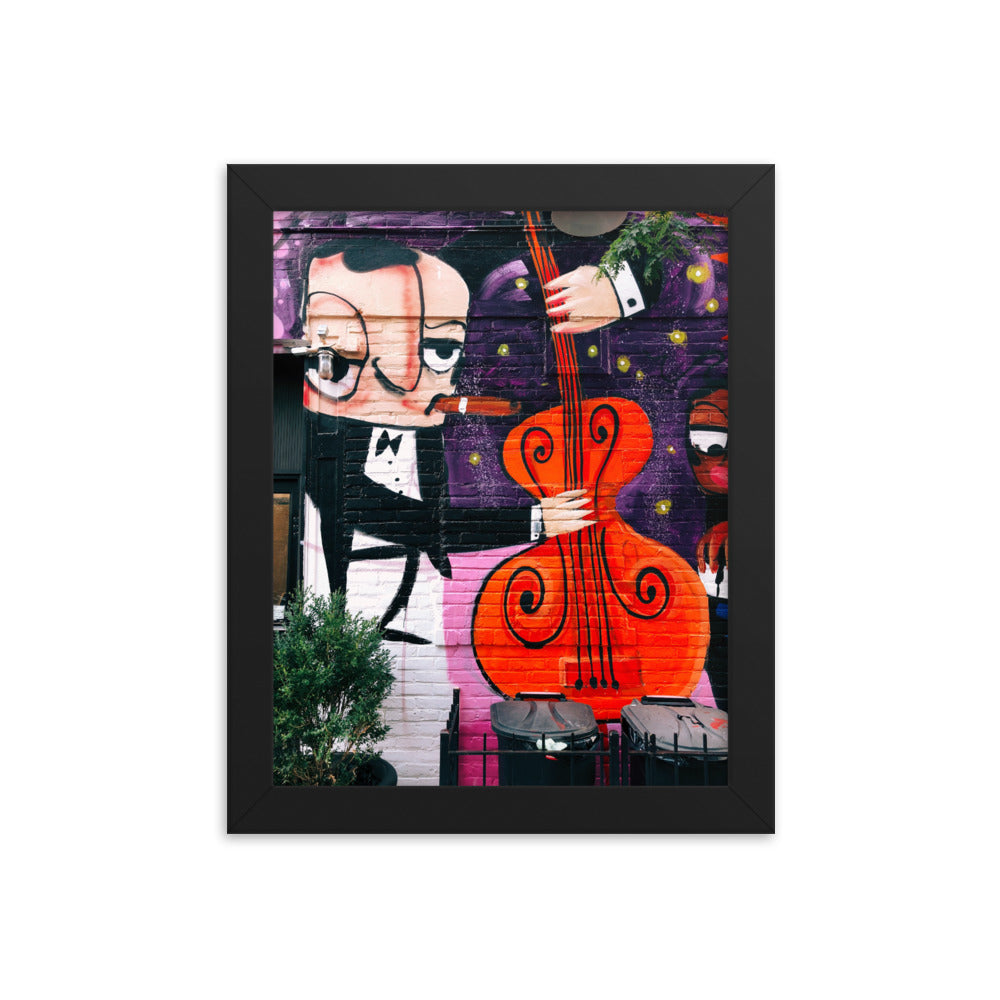 Upright Bass Humming In Our Fingertips framed print