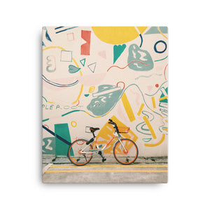 Bike & Mural canvas print