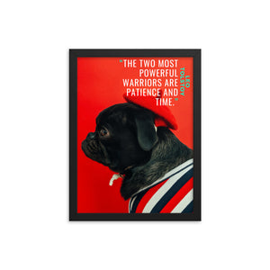 Patience and Time framed print