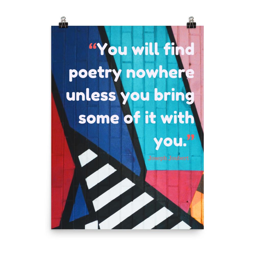 Bring Poetry With You poster
