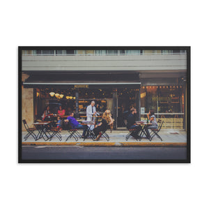 Cafe Patio framed print