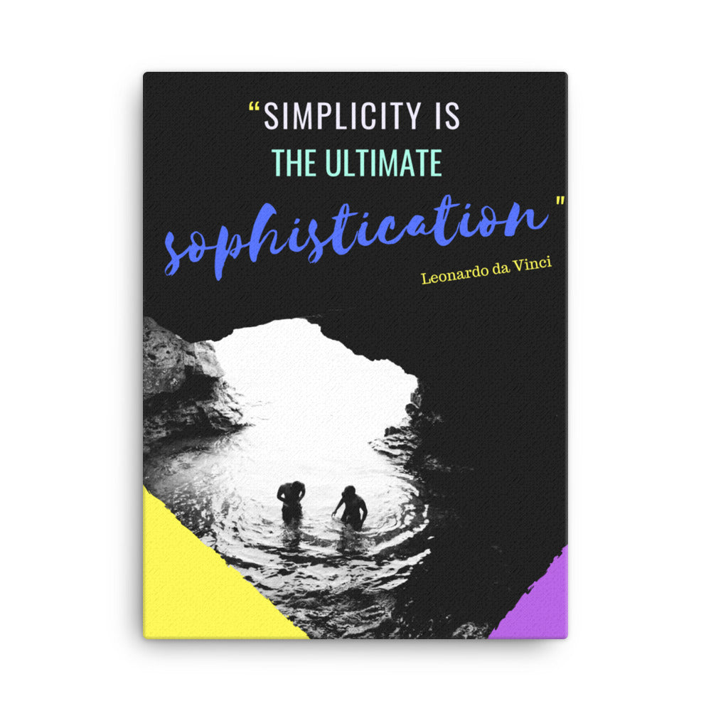 Simplicity is Sophistication canvas print