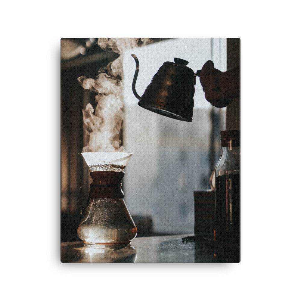Coffee & Steam canvas print