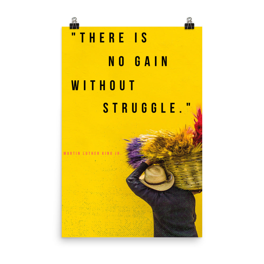No Gain Without Struggle poster