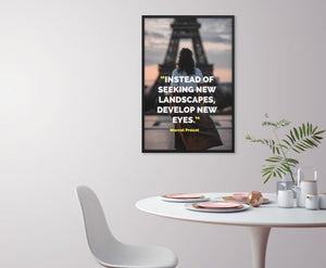 Develop New Eyes framed print