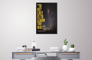 Learn the Way framed print
