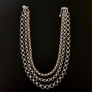Changeable One to Three-Strand Chain Necklace(s)