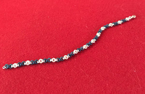 Silver and Niobium 2x2 Chain Maille Bracelet