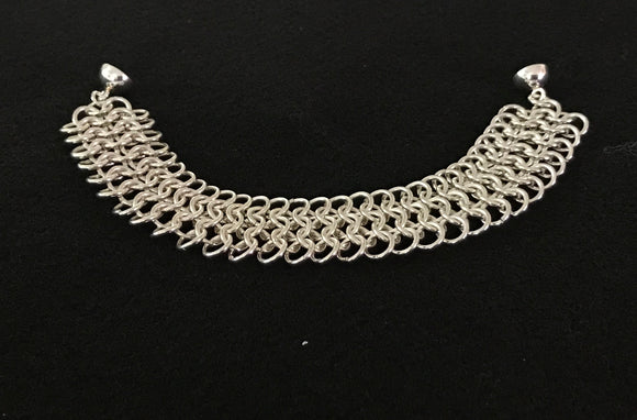 Sterling Silver 4-in-1 Chain Maille Bracelet