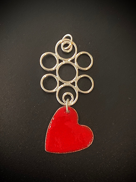 Heart and Circles Pendant