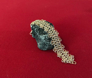 Sterling Silver and Gold Ruffled 4-in-1 Chain Maille Bracelet