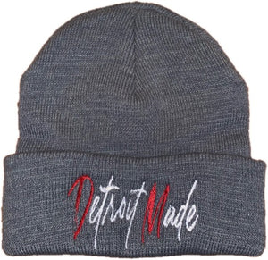 Unisex Cuffed Beanie (Black & Grey)