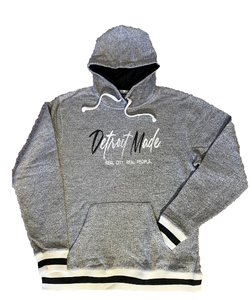 Grey Pepper Black Pullover Hoodie