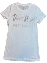 New! White Bling Fitted Tee (Crew Neck & V-Neck)