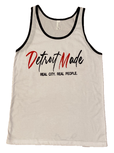 Clearance! - Men's White Jersey Tank