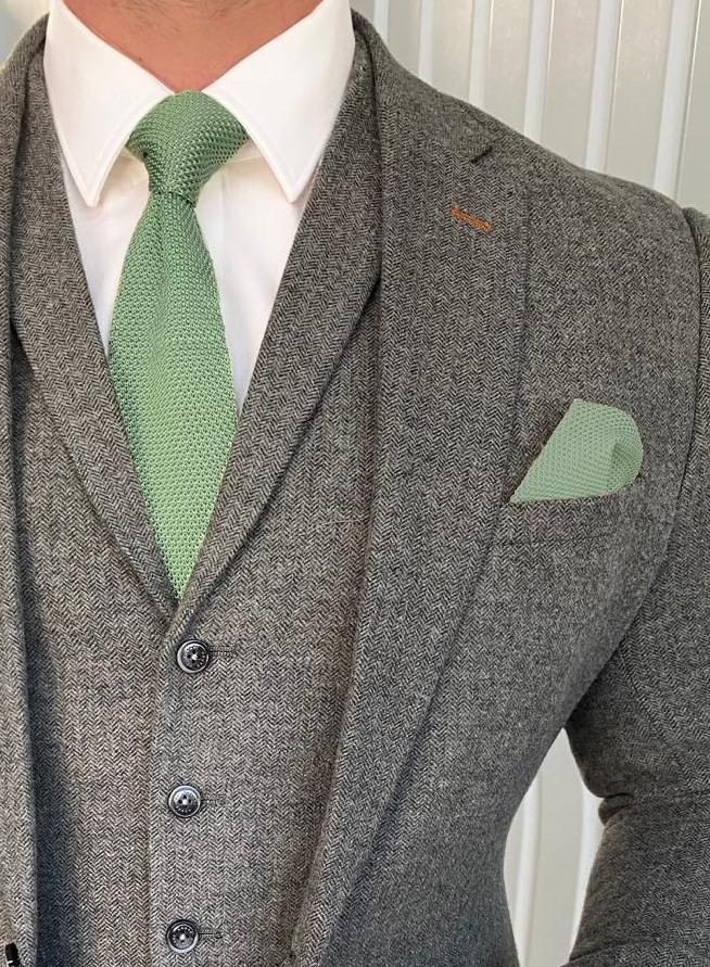 Sage Green Knitted
